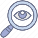 analysis, focus, monitoring, search, survey icon