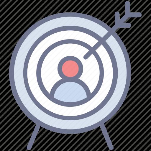 customer focus, focus group, target audience, target customers, target marketing icon