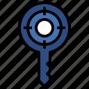 doorkey, interface, key, master, objetive, passkey, password icon