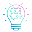 creative, idea, market & economics, marketing, puzzle icon