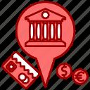 bank, card, market & economics, money, pointer icon