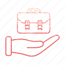 bag, briefcase, case, finance, market & economics, office icon