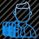 costs, employee, invest, market & economics, money icon