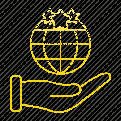 global, hand, market & economics, marketing, seo, world icon