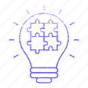 idea, light, market & economics, marketing, puzzel, seo icon
