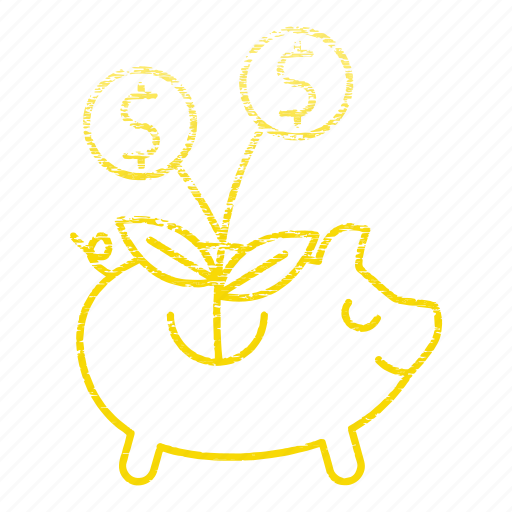 funds, invest, market & economics, pigg, piggy bank, raising, save icon