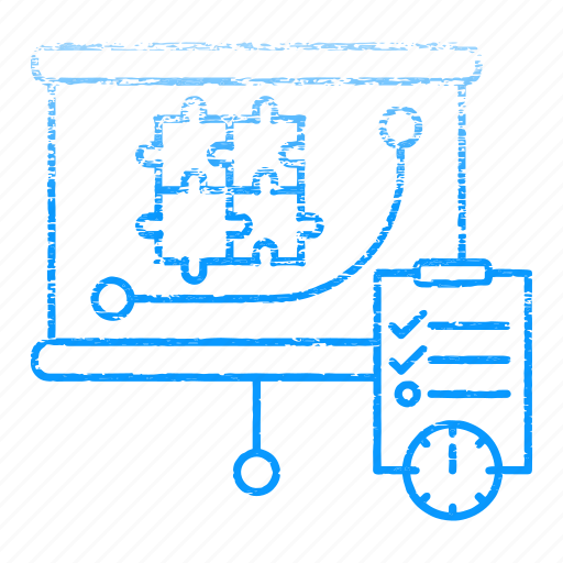 graph, market & economics, report, strategy, timer icon