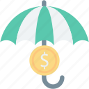 insurance, password, protect, protection, rain, safe, umbrella icon