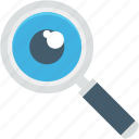 building, find, magnifier, optimization, seo, tool, zoom icon