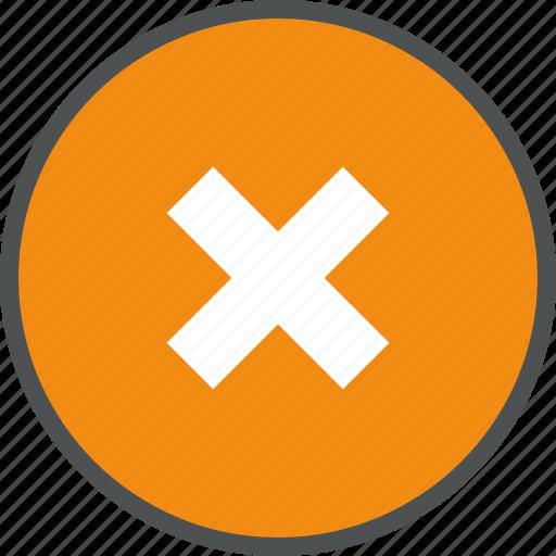 abort, cancel, delete, denied, failure, negative, no, remove icon