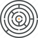 business, challenge, complex, labyrinth, maze, puzzle, solution icon