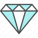 brilliant, crystal, diamond, gemstone, jewelry icon