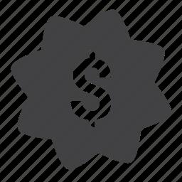 cash, discount, dollar, finance, money, offer, shopping icon
