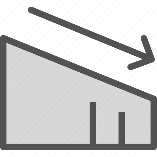 board, compare, dashboard, decrease, graph, lowrate, report icon