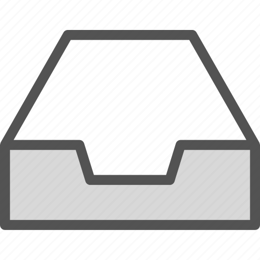 closet, documents, drawer, empty, folder, furniture icon