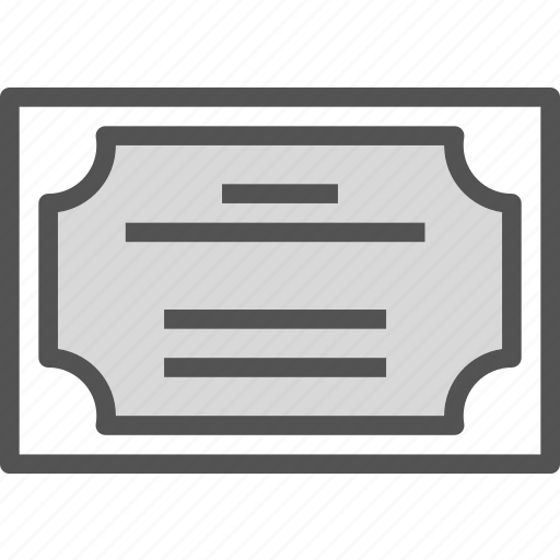 authorization, certificate, document, file, letter, paper, prize icon