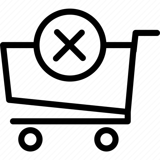 buy, cancel, cart, purchase icon