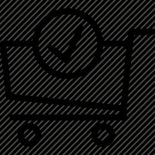 buy, cart, okcheck, purchase icon