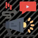 advertising, audio, marketing, megaphone