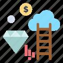 cloud, dimond, dollar, marketing