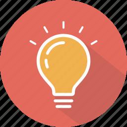 bulb, electricity, idea, illumination, light icon