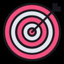 business, goal, focus, dartboard, target, marketing icon
