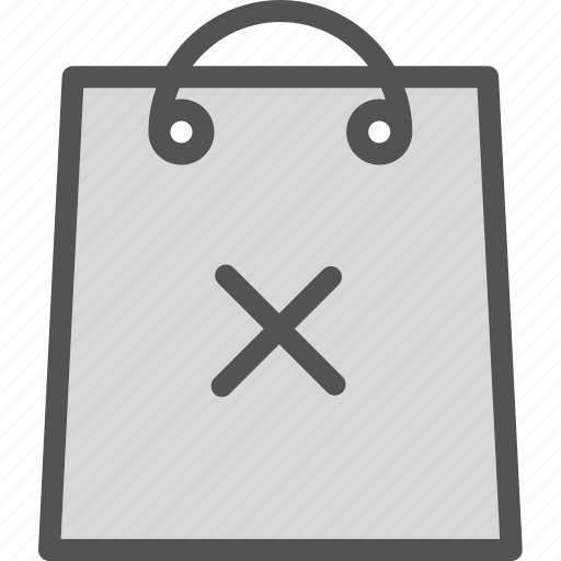 bag, buy, cancel, cart, purchase, shopping icon