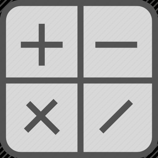 calculator, computer, math, operators icon