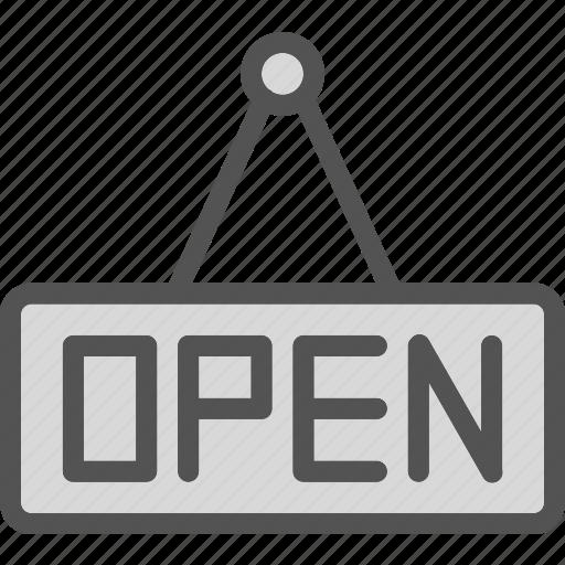 enter, open, shop, sign icon