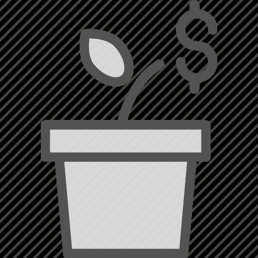 busness, dollar, euro, money, successplant icon