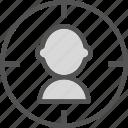aim, marketing, people, target, team, users