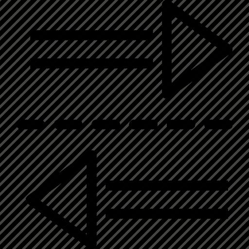 arrows, exchange, two, ways icon