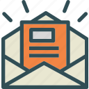envelope, mail, message, news, newsletter icon