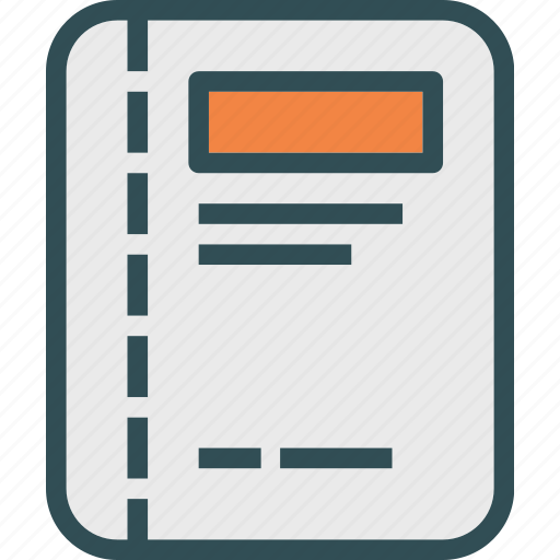 document, file, folder, letter, paper, report icon