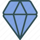 diamond, gem, luxury, precious, valor icon