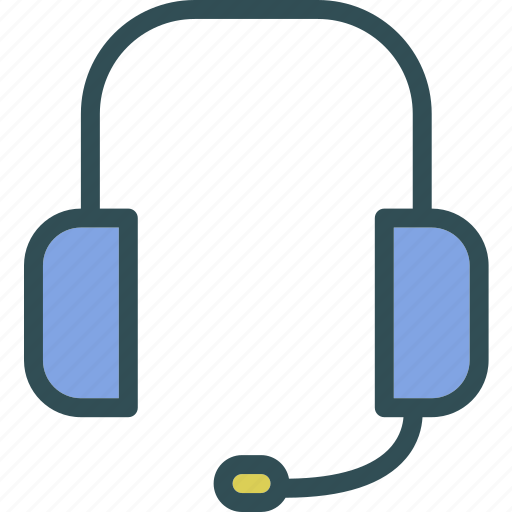 headset, listen, music, noise, play icon