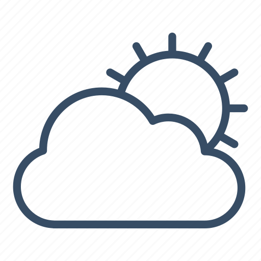 cloud, cloudy, forecast, marketing, sun, weather icon