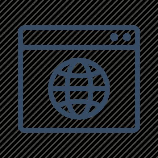 browser, homepage, internet, marketing, web, website, www icon
