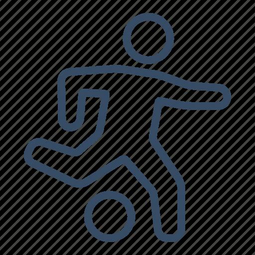 ball, figure, football, game, marketing, soccer, sport icon