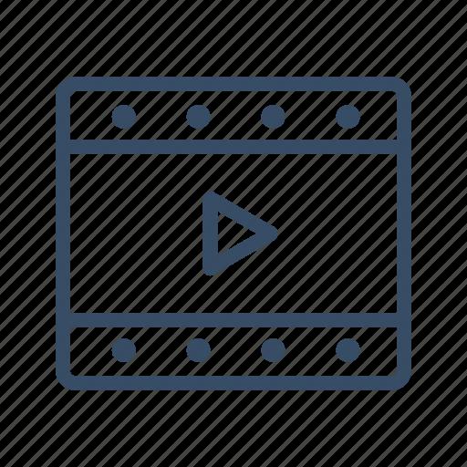 animation, film, movie, play, strip, video icon