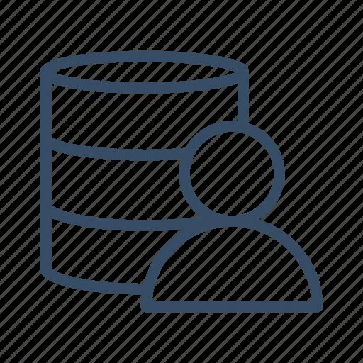 archive, customer, data, database, server, storage, user icon