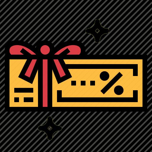 coupon, discount, voucher icon