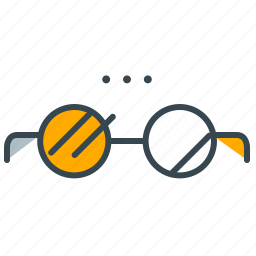 analysis, glasses, marketing, seo, statistics icon