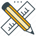 creative, design, marketing, pencil, ruler, tool icon