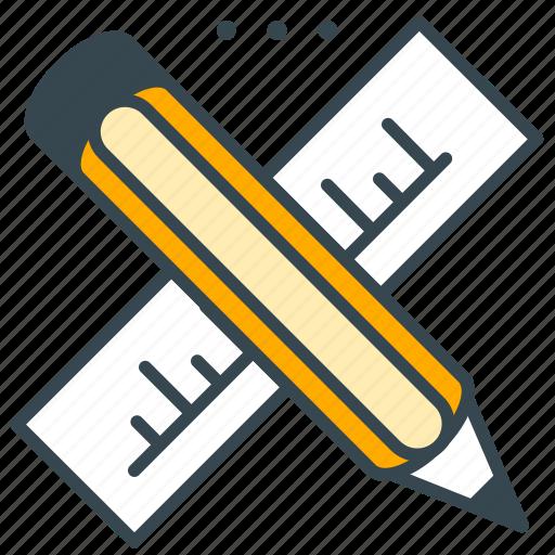 creative, design, marketing, pencil, ruler, tool icon