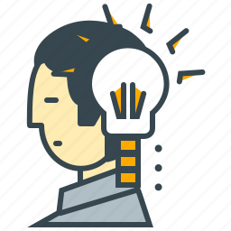 business, creative, idea, lightbulb, marketing, person icon