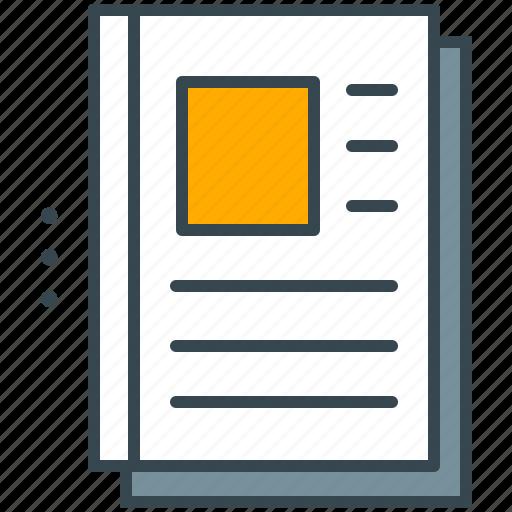 magazine, marketing, news, newsletter, paper icon