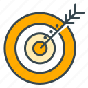 arrow, business, marketing, seo, shoot, target icon