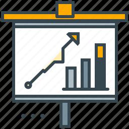 analytics, chart, graph, marketing, presentation, report, statistics icon