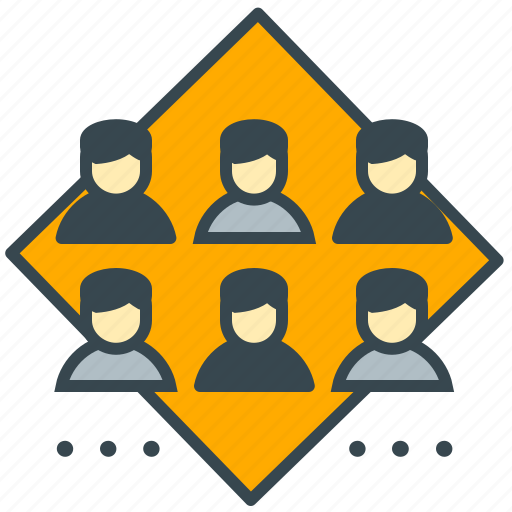 business, customers, group, marketing, social, team icon